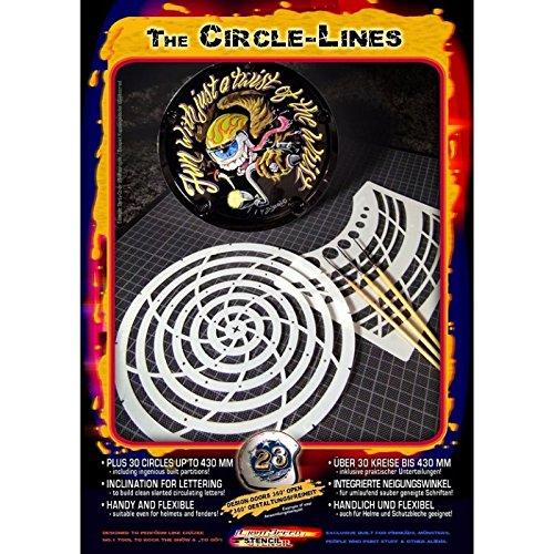Pinstriping Schablone Circle-Lines 410172 Harder und Steenbeck