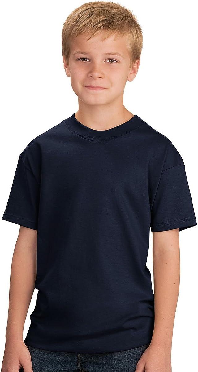 Port & Company Youth 5.4-oz Cotton T-Shirt, XS, Navy