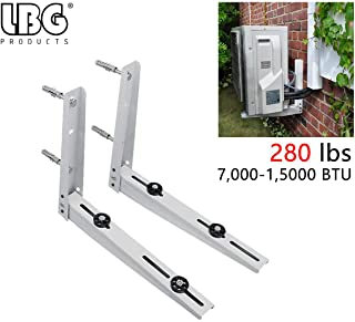 LBG Products Universal Outdoor Wall Mounting Bracket for Ductless Mini Split Air Conditioner Condenser Unit,Heat Pump Systems, Support up to 280lbs (7000-15000BTU)