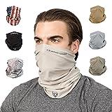 Terra Kuda Face Clothing Neck Gaiter Mask – Non Slip Light Breathable for Sun Wind Dust Bandana Balaclava (Desert Sand)
