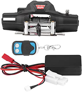 Woyisisi RC Car Winch, 1/8 Scale RC Model Vehicle Crawler Car Accessory Dual-Motor Winch with Remote Controller