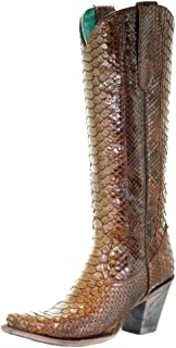 A3667 Tan Full Python Boots