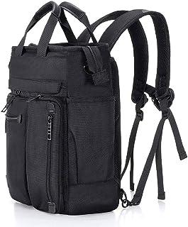 PANFU-AU Traveling Backpack 16 Inch Laptop Bag Satchel Bag Briefcase for School and Work Men's Shoulder Bag Multifunctional Handbag Laptop Backpack Shoulder Messenger Bag (Color : Black)