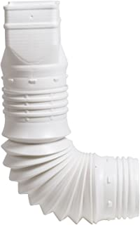 Flex-Drain 53127 Flexible Downspout Extension Adapter, 3 by 4 by 4-Inch, White