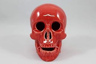 Teschio napoletano portafortuna in ceramica scultura souvenir idea bomboniera handmade