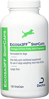 Dechra Eicosa3FF SnipCaps for Large Dogs Over 30 lbs 120 Count