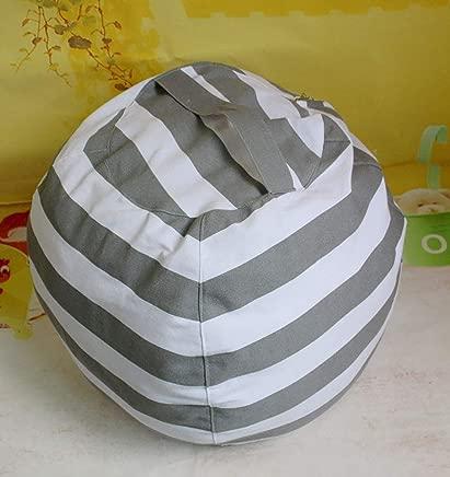 OOFAYWFD Canvas Stuffed Animal Storage Bean Bag Chair Kids Plush Toy Clothes Quilts Organizer 5 Big