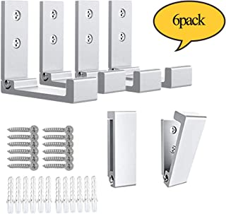 Wall Hook Foldable, Wall Mounted Coat Hook, Heavy Duty Hooks for Hanger, Wall Hanger Decorative Wall Garage Hooks Collapsible Hooks Hanger for Coat, Scarf, Bag, Key, Cap, Cup, Hat 6Pack Hooks for Wall
