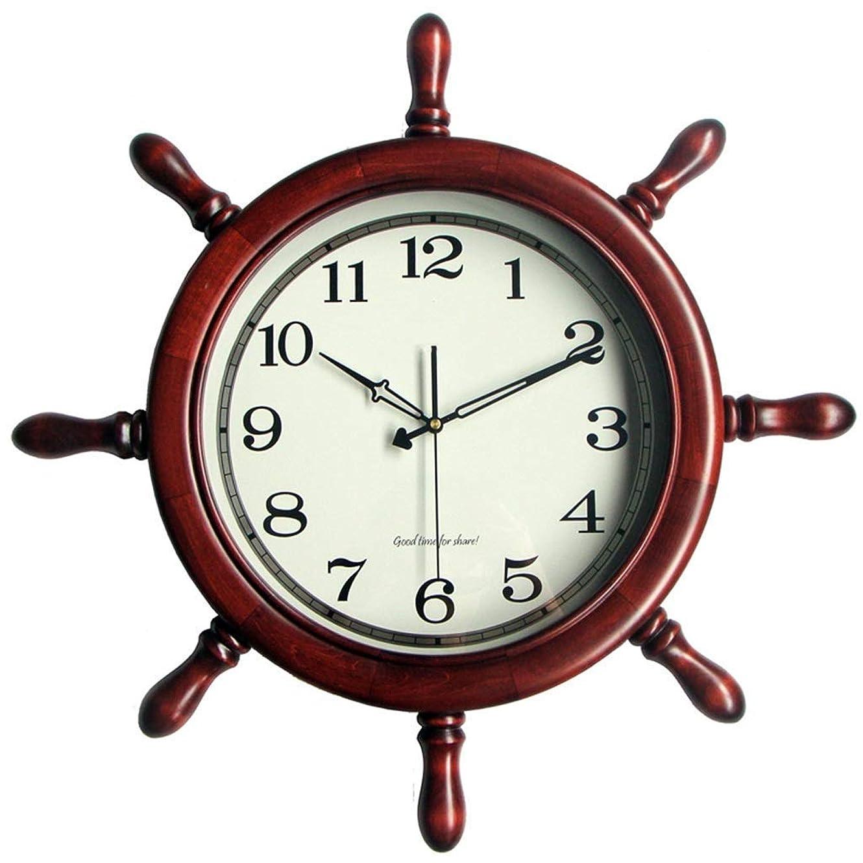 目立つアベニュー読者クロックウォールクロックサイレントノンチックソリッドウッド装飾用キッチンリビングルームバスルーム寝室オフィスクォーツ&家庭用時計