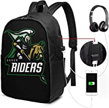 Unisex Backpack with USB Charging Port Rohan Riders Team Logo Classic Fashion General Business Bookbag