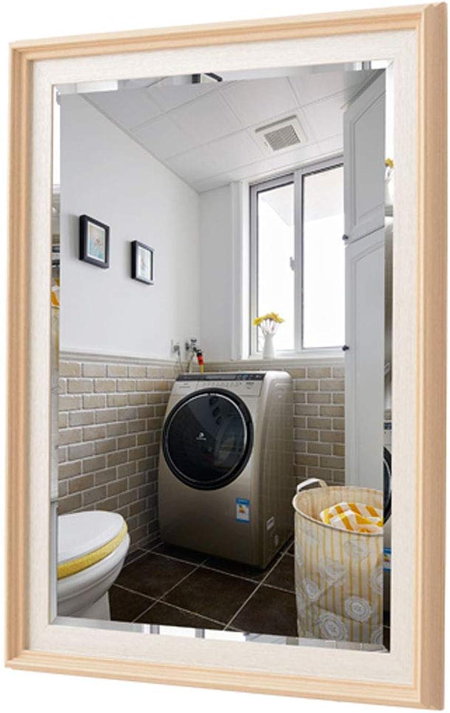 Simple Modern Bathroom Mirror Wall Hanging for Vanity, Bedroom, or Bathroom Hangs Horizontal & greenical Frame