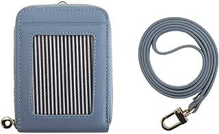 Genuine Leather Credit Card Holder Necklace Neckholder Business Id Badge Neck Strap Wallet