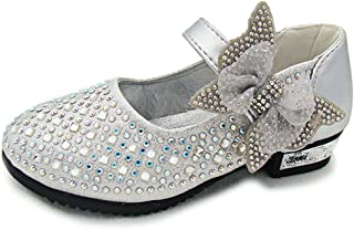 f73a4806c19 YING LAN Little Big Girl Glitter PU Leather Mary Jane Shoes