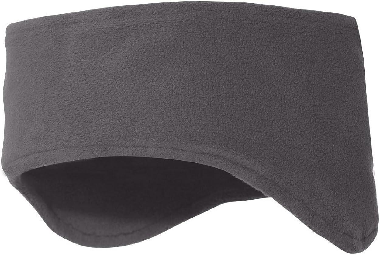 Snapskull Unisex Polar Fleece Headband with Ear Warmers (Dark Grey)