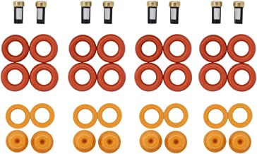 MOTOKU Fuel Injector Repair O Rings Basket Filter Spacer Pintle Cap Kit for Ford V8 5.4L 4.6L Lincoln and Mercury