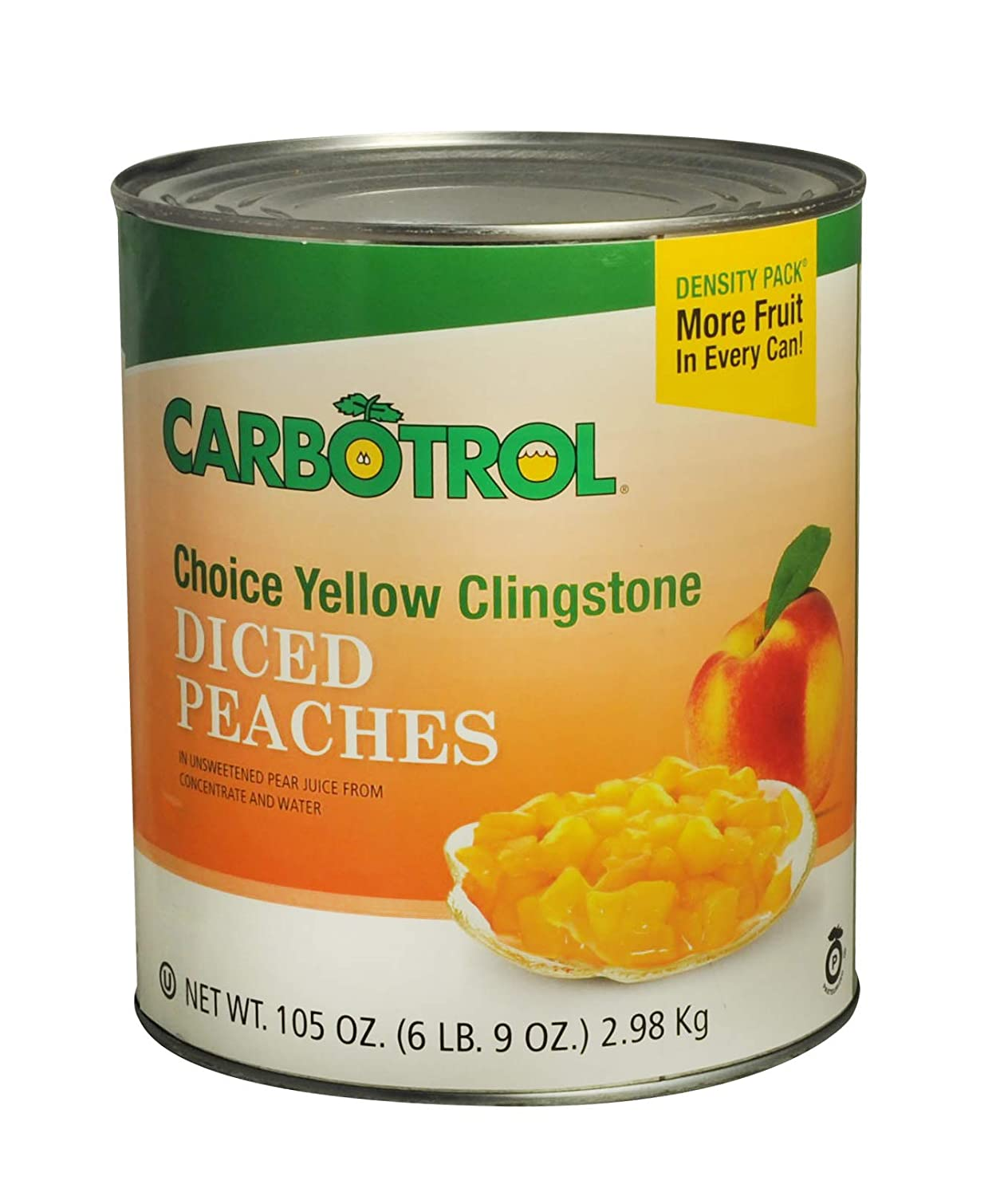 Carbotrol #10 Juice Packed Canned Fruit OFFicial shop Peaches 1 105o Diced Gifts -
