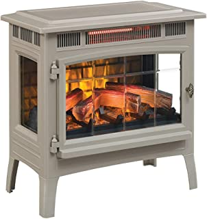 Duraflame 3D Infrared Electric Fireplace Stove with Remote Control - Portable Indoor Space Heater - DFI-5010 (French Grey)