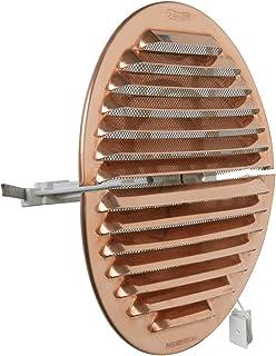 La Ventilation GRADF160R kratka wentylacyjna okrągła, składana, z miedzi, z siatką przeciw owadom, średnica 175 mm