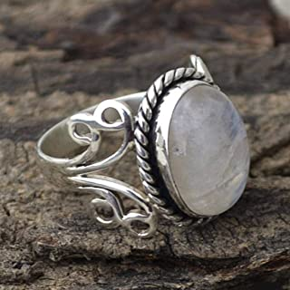 Tripmark Ladies Ring Jewelry Fashion 925 Silver Moonstone Gemstone Ring Birthstone Engagement Jewelry Gemstone Moonstone Vintage Ring (6)