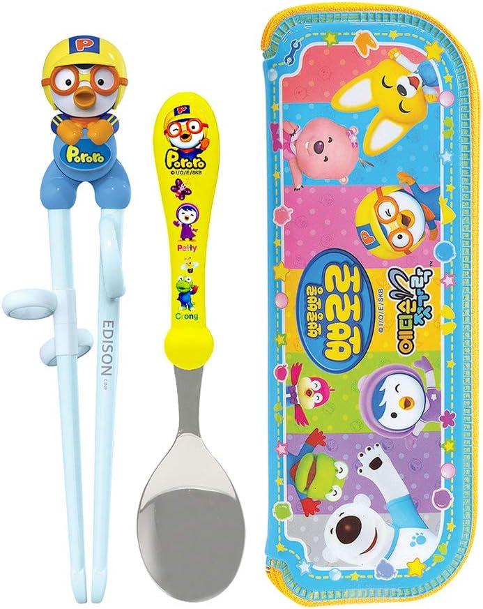 Children Cheater Training Chopsticks & Spoon set Penguin