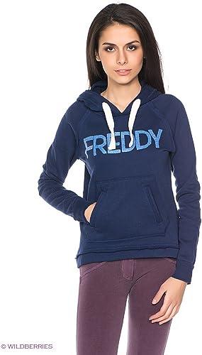 FrougeDY - Sweat à Capuche - Femme Bleu Bleu S