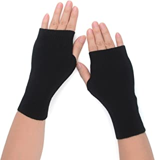 Best black fingerless wool gloves Reviews