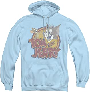 Tom and Jerry Water Damaged Unisex Adult Pull-Over Hoodie for Men and Women