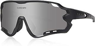 comprar comparacion Queshark Gafas de Ciclismo para Hombre Mujer Bicicleta de Carretera 1 Lente Polarizada 3 HD UV400 Lente 10 Colores