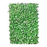 GardenKraft 26130–2x 1m de luz Ivy Ampliable Panel para Valla de Mimbre Artificial, Color Verde