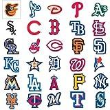 MLB Major League Baseball Team Logo Stickers Set of 30 Teams 4' X 3' Size