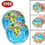 JIUZHOU Best Online Tienda de Juguetes 2 Piezas de Alivio del estrés Mapa del Mundo Jumbo Bola Atlas Globo Palm Ball Planet Earth Ball