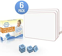 """6 Pack Dry Erase Lap Board 9""""X12"""" 