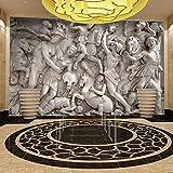 Fototapete Aufkleber Griechische Steinschnitzerei 3D Vlies Wallpaper für Schlafzimmer Wohnzimmer Küchen Wandkunst Dekoration Poster 300x210cm