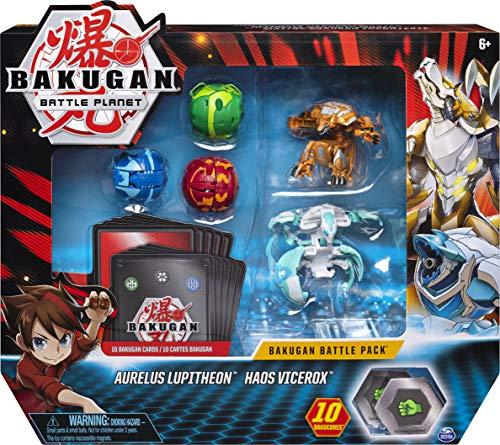 Bakugan - 6058561 - Jouet Enfant à Collectionner - Battle Pack Modèle Aurelus Lupitheon/Haos Vicerox