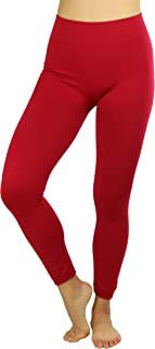 ToBeInStyle Women's High Waist Fleece Lined Ankle Length Leggings