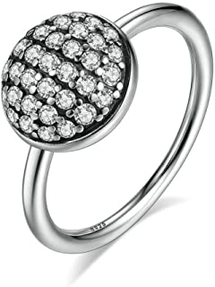 PSRINGS 925 Sterling Silver Dazzling Droplet Ring Compatible With WST Ring S925 Jewelry