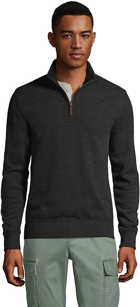 Lands' End OFFicial store Ranking TOP2 Men's Bedford Rib Quarter Sweater Zip