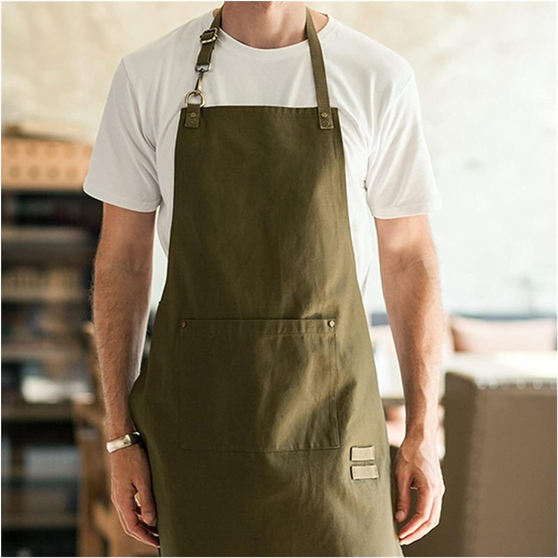 YSYSPUJ Apron Beige Ranking TOP14 Brown Polyester Direct sale of manufacturer Bar Bib Barista Cotton
