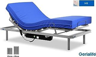 Gerialife® Cama articulada con colchón Sanitario HR