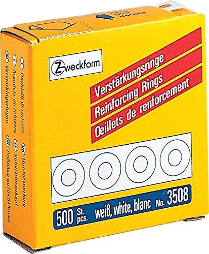 10 Spenderschachteln mit je 500 Stück Verstärkungsringe 5.000 Stück weiss ZWECKFORM 3508 weiß (10)