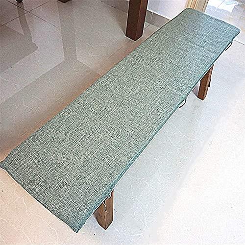 erddcbb Cojines Largos Transpirables para sillas mecedoras, cojín de Banco Columpio Relleno de Esponja para Interiores y Exteriores, Cojines para sillas de Patio Rellenos de Esponja Verde 30x200cm (