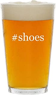 #shoes - Glass Hashtag 16oz Beer Pint