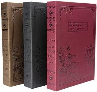 LaLa Mart アンティーク風 ノート 日記帳 中世ヨーロッパ貴族風 鍵付き 古書風 ダイアリー ワインレッド