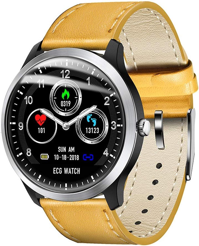 LXFMD Sportuhr EKG ECG Smart Bracelet Bericht Blautdruck-Herzfrequenz-Test