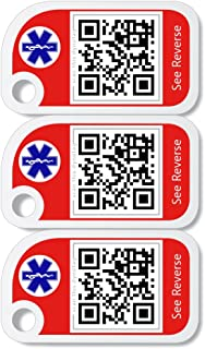 Dynotag SuperAlert™ Smart Medical ID with Detailed Online Profile; Family Starter Kit: Set of 3 Unique Mini Tags, with Lifetime Subscription