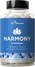 Harmony D-Mannose – Urinary Tract UT Cleanse & Bladder Health – Fast-Acting Detoxifying Strength, Flush Impurities, Clear System – Hibiscus Pills – 180 Vegetarian Soft Capsules