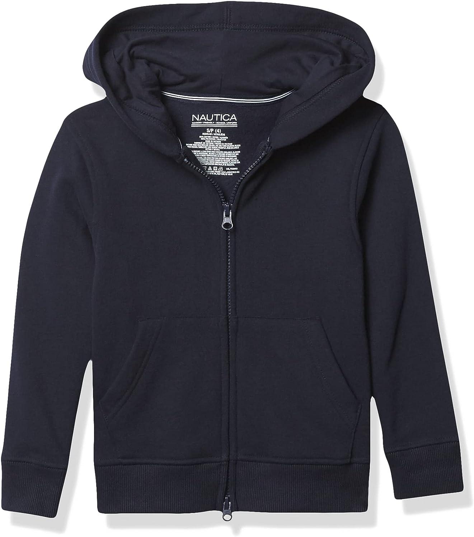 Nautica Boys' Sensory-Friendly Soft Full-Zip Hoodie Sweatshirt