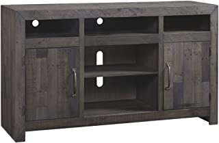Ashley Furniture Signature Design - Mayflyn Large TV Stand with Fireplace - Charcoal