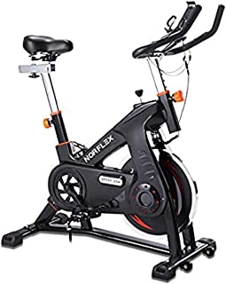 Scenic Spin Bike Flywheel Commercial Gym Exercise Home Workout Bike Fitness Commercial, Fully Adjustable, LCD Screen, Puls...