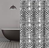 KS Handel 24 Top Designs Textil Duschvorhang 120x200 cm (Zebra)